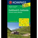 S. Gottardo, Grimsel, Susten 1:40.000