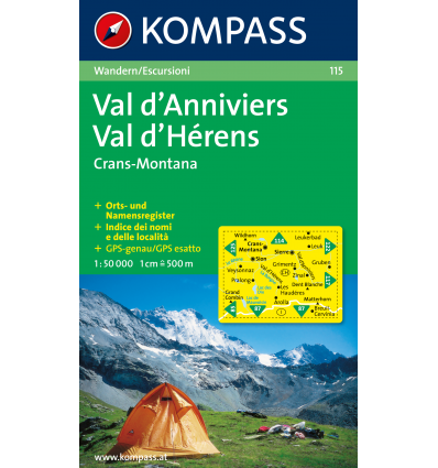 Val d'Anniviers, Montana, Val d'Hérens 1:50.000