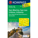 San Marino, San Leo, Urbino, Urbania 1:50.000