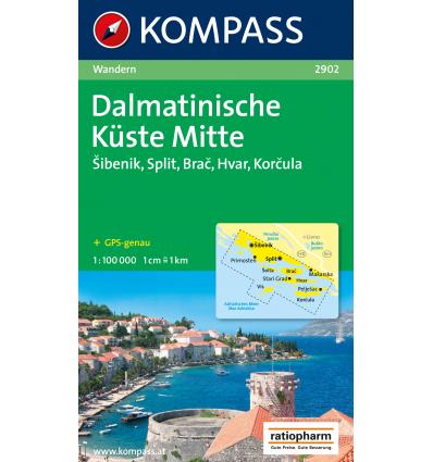 Dalmatische Küste Mitte 1:100.000