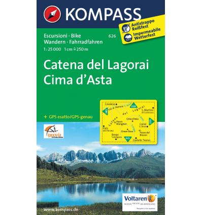 Catena dei Lagorai, Cima d'Asta 1:25.000