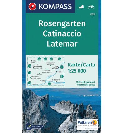 Catinaccio, Latemar 1:25.000