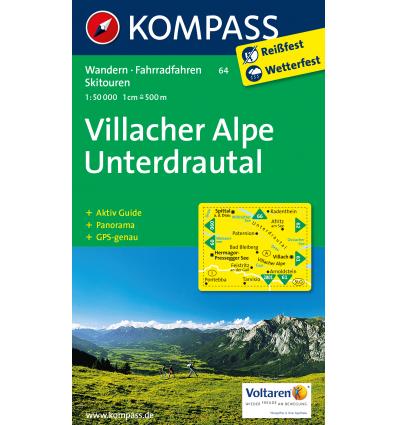 Villacher Alpen, Unterdrautal 1:50.000