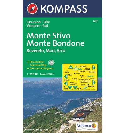 Monte Stivo, Monte Bondone, Rovereto, Mori, Arco 1:25.000