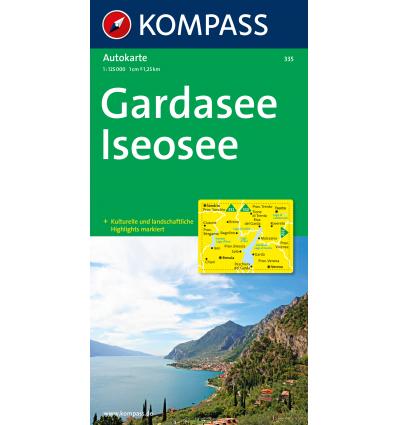 Lago di Garda, Lago d'Iseo 1:125.000