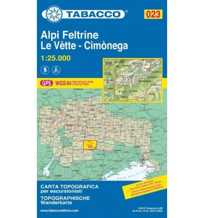 Alpi Feltrine, Le Vètte, Cimònega