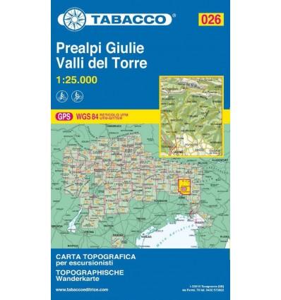 Prealpi Giulie, Valli del Torre