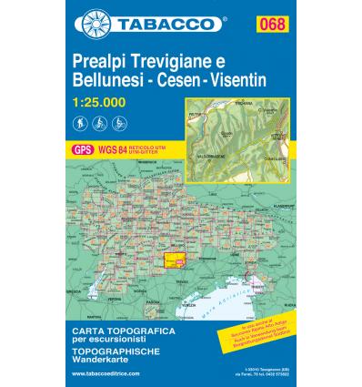 Prealpi Trevigiane e Bellunesi M. Cesen - Col Visentin 1:25.000