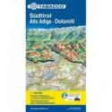 Alto Adige - Dolomiti, Stradale e Panoramica 1:160.000