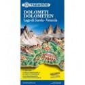 Dolomiten - Gardasee - Venezia, Straßen- und Panoramakarte 1:200.000