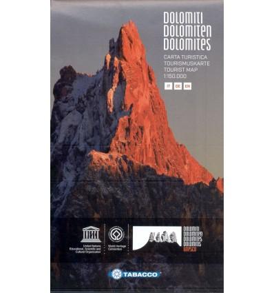 Dolomiten, Tourismuskarte 1:150.000