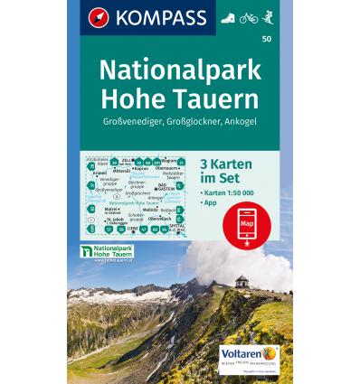Nationalpark Hohe Tauern, Großvenediger, Großglockner, Ankogel 1:50.000