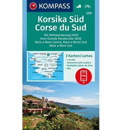 Korsika Süd 1:50.000, SET aus 3 Karten