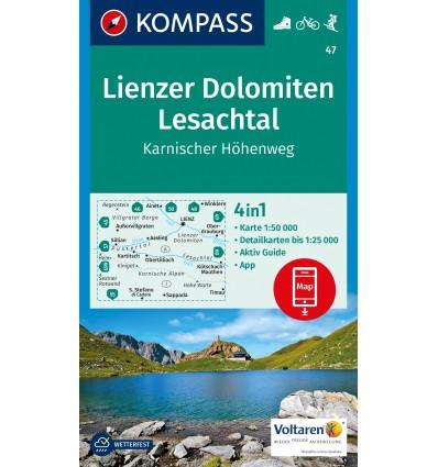Lienzer Dolomiten, Lesachtal, Karnischer Höhenweg 1:50.000