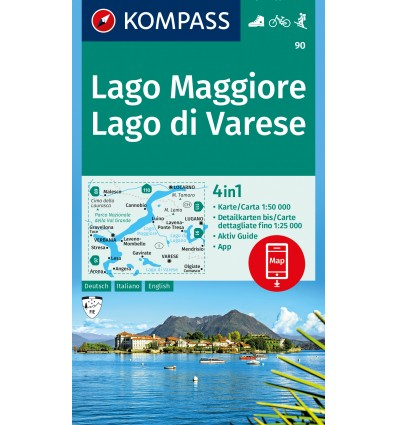Lago Maggiore, Lago di Varese 1:50.000