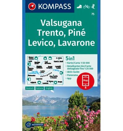 Valsugana, Trento, Piné, Levico, Lavarone 1:50.000