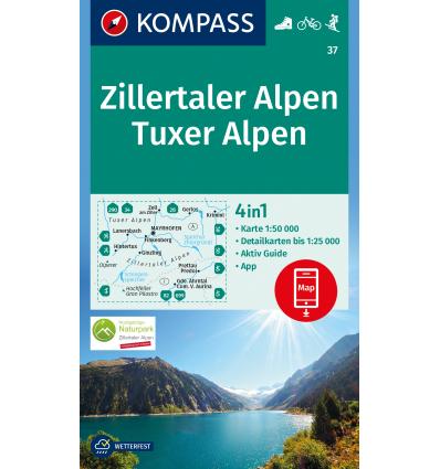 Zillertaler Alpen, Tuxer Alpen 1:50.000