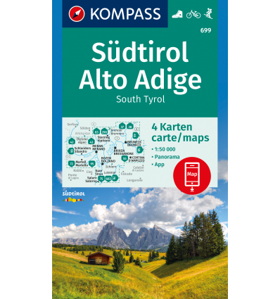 Alto Adige 1:50.000 - set 4 cartine