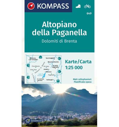 Altopiano della Paganella, Dolomiti di Brenta 1:25.000