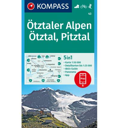 Ötztaler Alpen, Ötztal, Pitztal 1:50.000