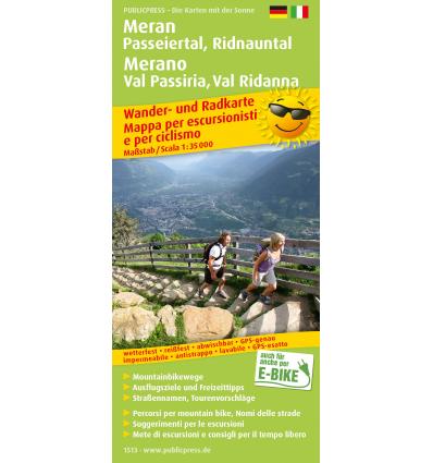 Meran, Passeiertal, Ridnauntal 1:35.000