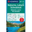 Naturno, Laces, Val Senales 1:25.000