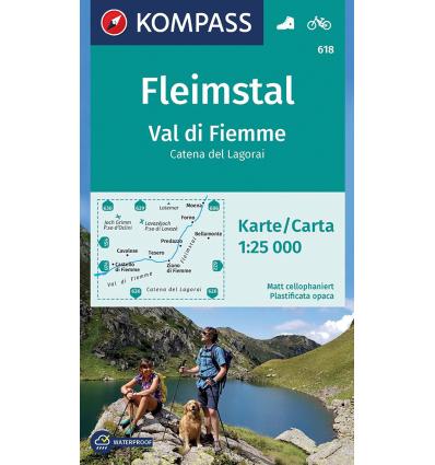 Val di Fiemme, Catena dei Lagorai 1:25.000