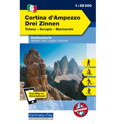 Cortina d'Ampezzo, Tre Cime 1:35.000