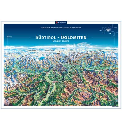 Alto Adige Dolomiti carta panoramica in rotolo 75x55cm