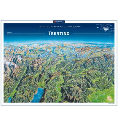 Trentino poster in rotolo 75x55cm