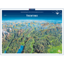 Trentino Panoramaposter in der Rolle 75x55cm