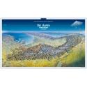 Die Alpen von Norden Panoramaposter in der Rolle 100x59cm