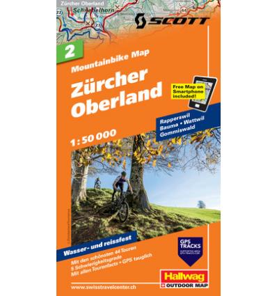 Mountainbike Map Zürcher Oberland Nr. 2 1:50.000