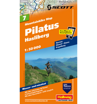 Mountainbike Map Pilatus Hasliberg Nr. 7 1:50.000