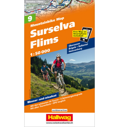 Mountainbike Map Surselva - Flims Nr. 9 1:50.000