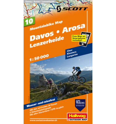 Mountainbike Map Davos-Arosa-Lenzerheide Nr. 10 1.50.000