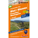 Mountainbike Map Biel, Franches-Montagnes Nr. 14 1:50.000