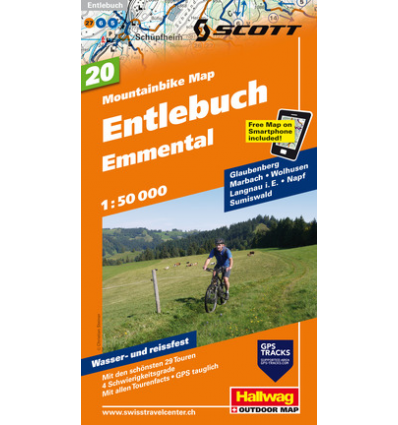 Mountainbike Map Entlebuch Emmental Nr. 20 1:50.000