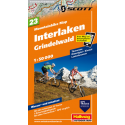 Mountainbike Map Interlaken Grindelwald Nr. 23 1:50.000