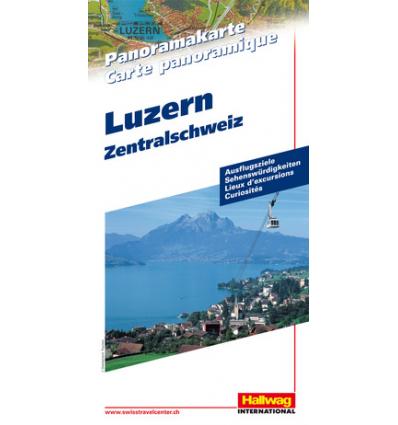 Carta panoramica Svizzera Centrale Luzern
