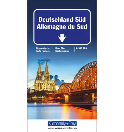 Carta stradale Germania Sud 1:500 000