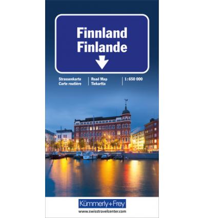 Straßenkarte Finnland 1:650.000