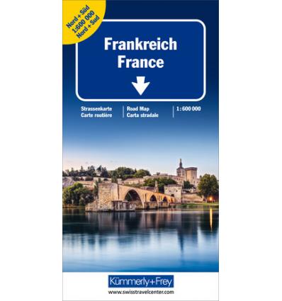 Straßenkarte Frankreich Doppelkarte 1:600.000