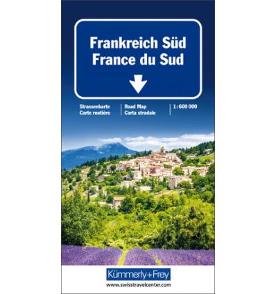 Straßenkarte Frankreich Süd 1:600.000