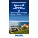 Carta stradale Schwarzwald - Bodensee 1:200.000