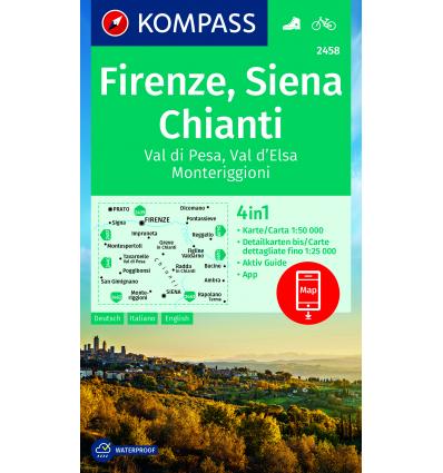 Firenze, Siena, Chianti 1:50.000