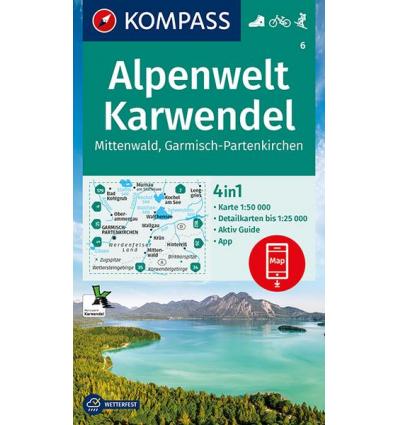 Alpenwelt Karwendel, Mittenwald, Garmisch-Partenkirchen 1:50.000