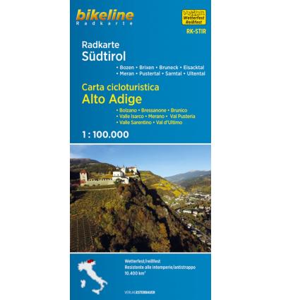 Bikeline carta ciclabile dell'Alto Adige