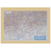 Carta di rilievo con cornice in legno Trentino/Alto Adige