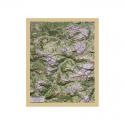Reliefkarte mit Holzrahmen Val di Fassa e Val Gardena